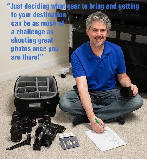 travel photographer Joel Wolfson with checklist preparing for travel